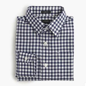 J Crew Crewcuts Boys' Ludlow shirt Navy Checkered